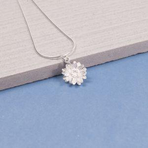Silver Sunflower Pendant