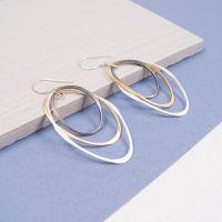 Tricolour Silver earrings