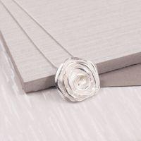 Silver Rose Flower Pendant