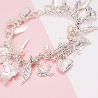 Silver Love Nature Charm Bracelet