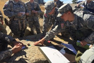 RMC ROTC cadets participate in field training