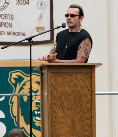 Damien Echols speaks at the Common Read Lecture last Thursday. photo courtesy of Ean McLaughlin.