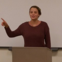 Senior, Molly Davis argues the opposition bench in the final round. Photo by David Fejeran