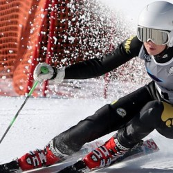 RMC skier Frida Svedberg defended her title in both G.S. and Slalom. Photo courtesy of the Billings Gazette