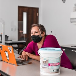 RMC Student back in class after quarantine  Photo Courtesy of Oliver Walker
