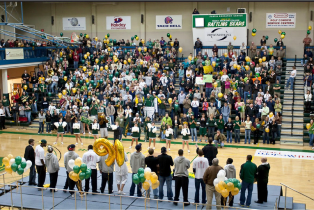 Rocky fans welcome home the 2009 NAIA men's national champion basketball team. The team went 28-9 led by tournament MVP Devin Uskoski. This National Championship is considered to be the College's highest athletic achievement in its history.