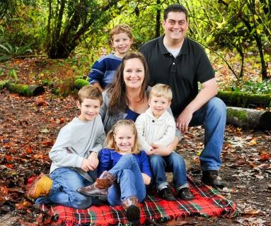 Amaree and her fun family in the fall of 2014