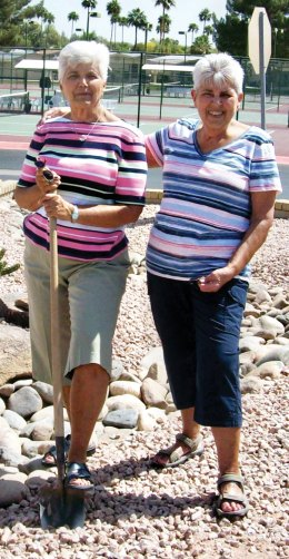Barb Ott and Pat McGonegle supervised the Garden Club project.