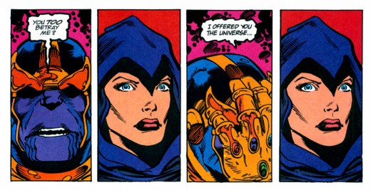Thanos and Death. Infinity Gauntlet #5, 1991