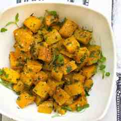 Garlicky Roasted Butternut Squash #WeekdaySupper
