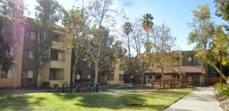 Scenic view of CSUN dorms.