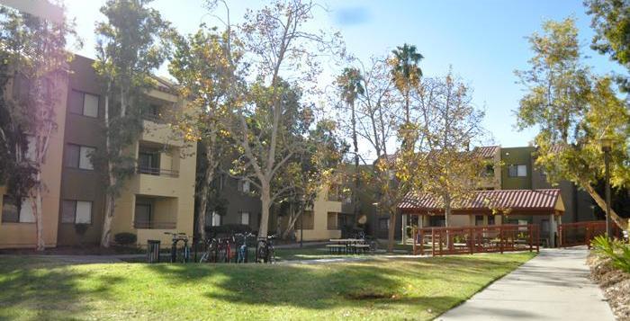 Scenic view of CSUN dorms.
