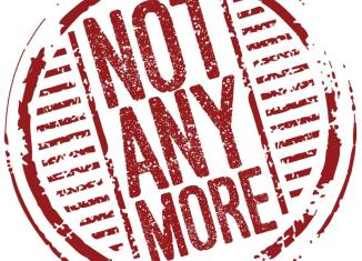 "Logo that reads ""Not Any More"""