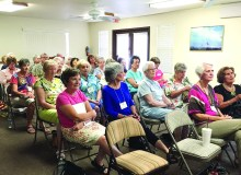The audience at the Garden Club meeting listening to the speaker.