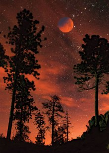 Blood Moon at Custer State Park by Burt Williams