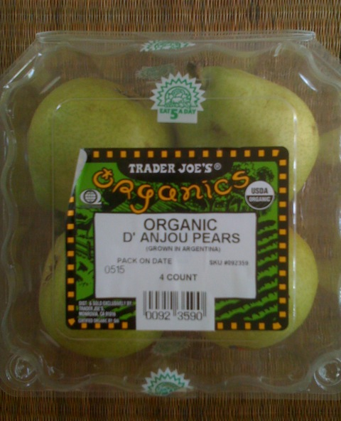 Trader Joe's Organic D'Anjou Pears from Argentina