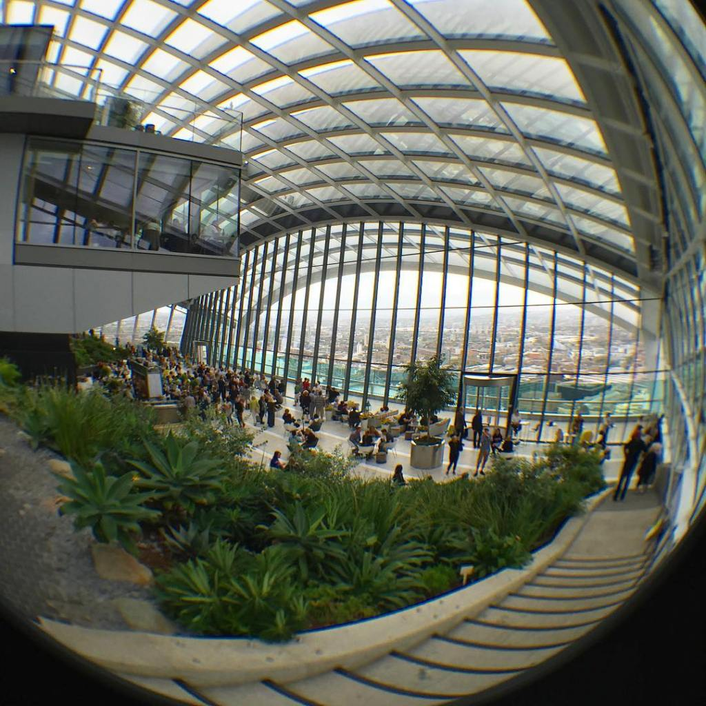 An interesting view at the Sky Garden with my newhellip