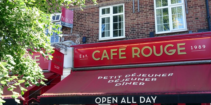 Breakfast at Cafe Rouge Southgate