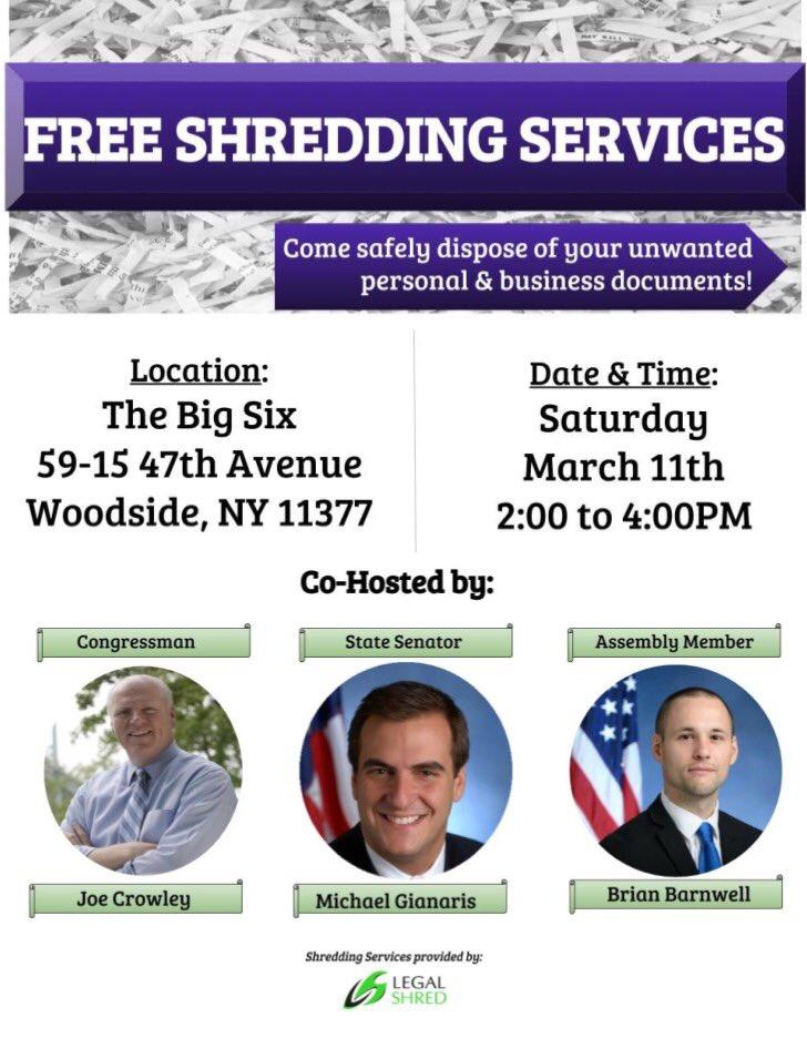 Woodside Free Shredding