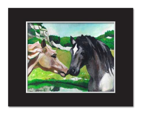 """Wild at Heart"" - Two Horses Kissing"