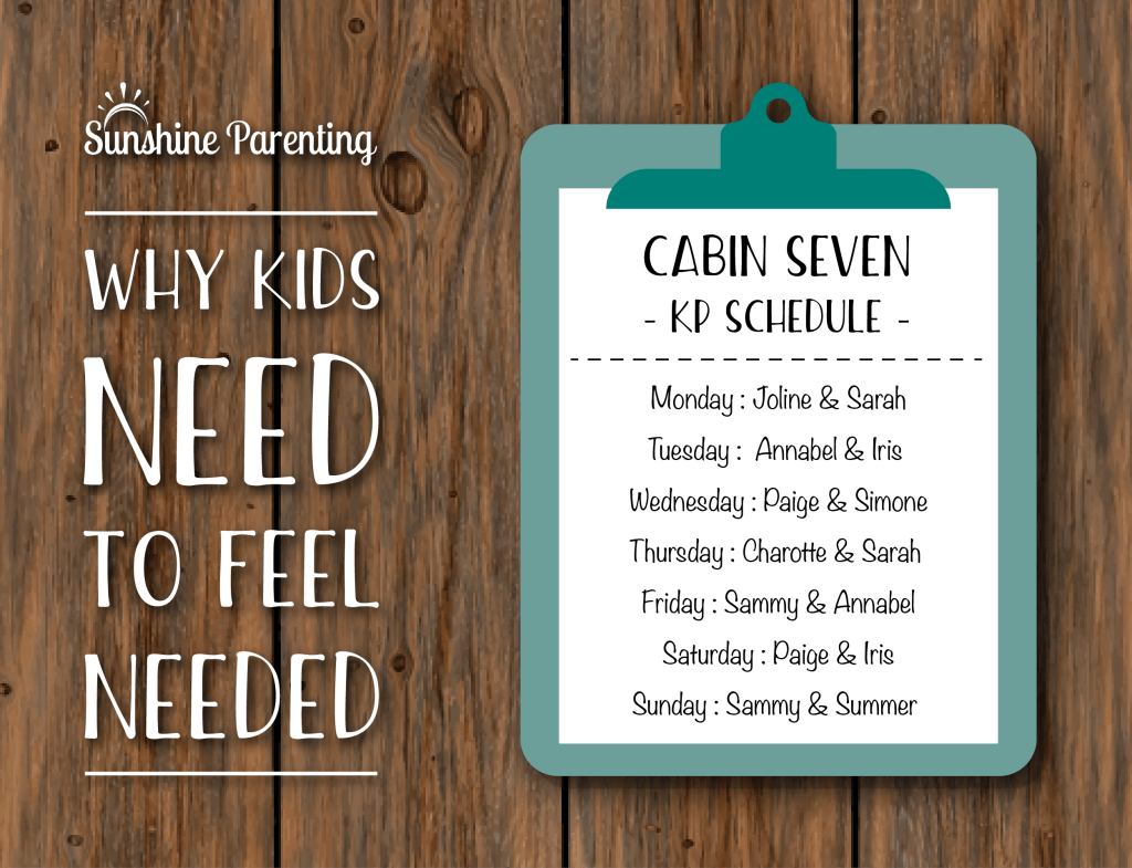 Why Kids Need to Feel Needed
