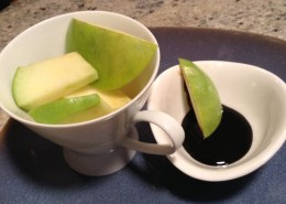 chocolate coconut reduction with apples