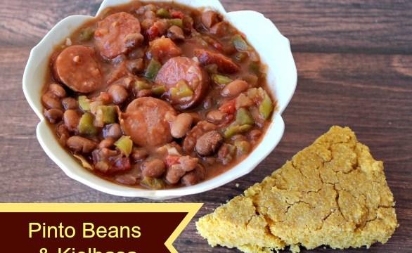 Pinto Beans & Kielbasa with cornbread