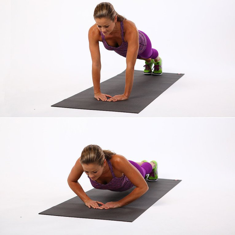 Triangle Pushup -body sculpting
