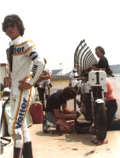 Ontario 6 hour race, 1978. As reigning champions of the race, Keith and Reg Pridmore held the number one plate.