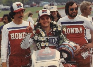 1983. Steve Wise, one of the few motocrossers to successfully transition to roadracing. He had 11 podium finishes out of 13 races after Keith started coaching him.