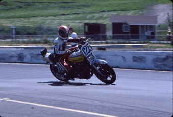 Keith at Sears Point Superbike race, 1978.