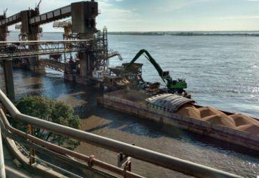 En el primer cuatrimestre ingresaron 212.488 toneladas de soja proveniente de Paraguay a través de las terminales portuarias de la provincia de Santa Fe. FOTO: Senasa.