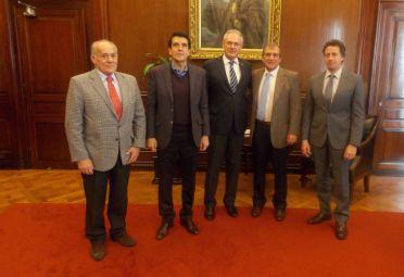 Melconian se reunió con directivos de la Federación de Acopiadores. FOTO: BNA.