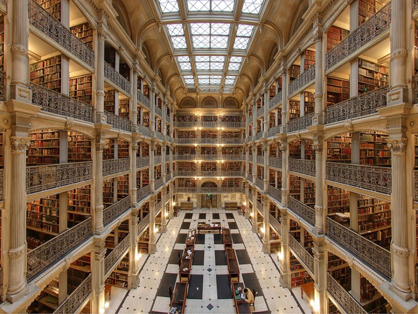 George Peabody Library, Baltimore, EUA