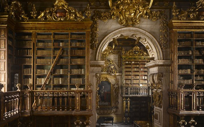 Библиотека Жуанина, Коимбра, Португалия