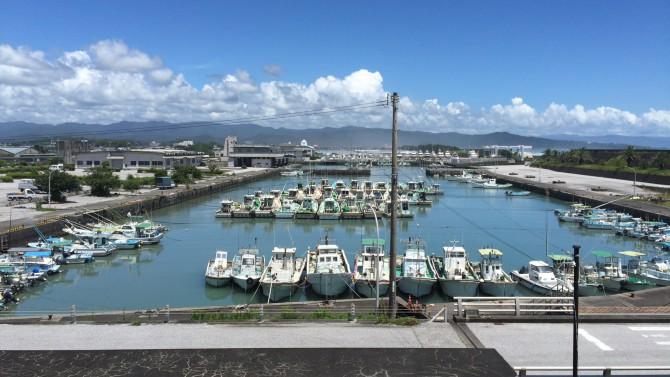 吉川展望台から見た吉川漁港 - 高知県香南市吉川町