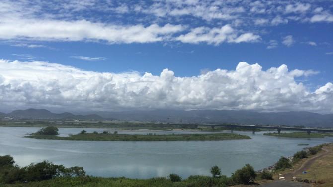 吉川展望台から見た物部川 - 高知県香南市吉川町