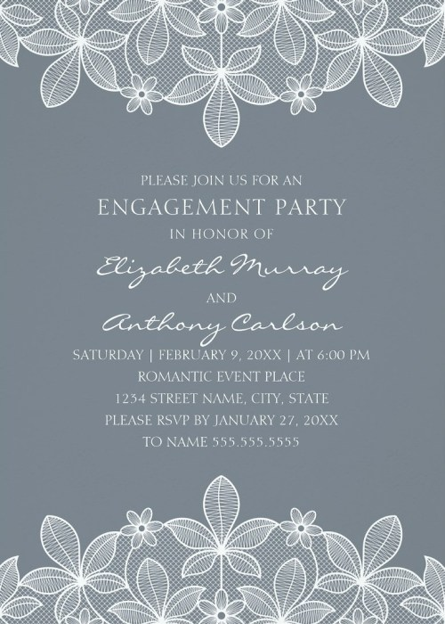 Comely Photo Engagement Party Invitations Ideas Lace Engagement Party Invitations Country Cards Engagement Party Invitations