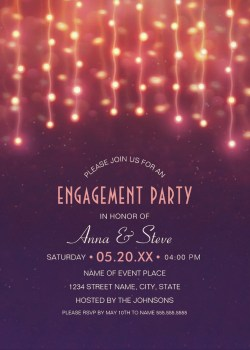 Cute String Lights Engagement Party Invitations Couples Showerinvitations Engagement Party Invitations Personalize Couples Shower Invitations Wording Luau Couples Shower Invitations