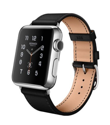 Single Tour 38mm Stainless Steel Case Noir Leather Band