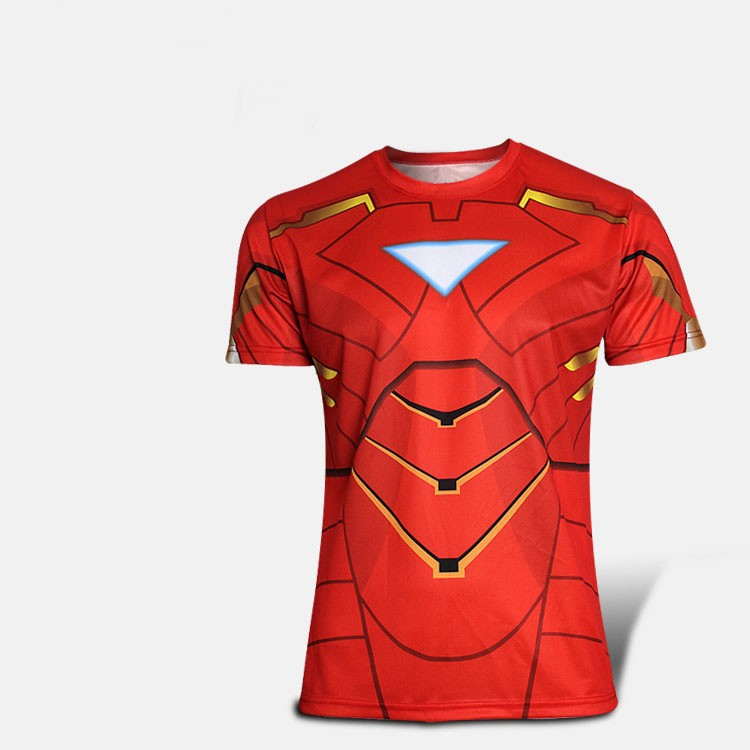 Kaos Superhero Iron Man Merah