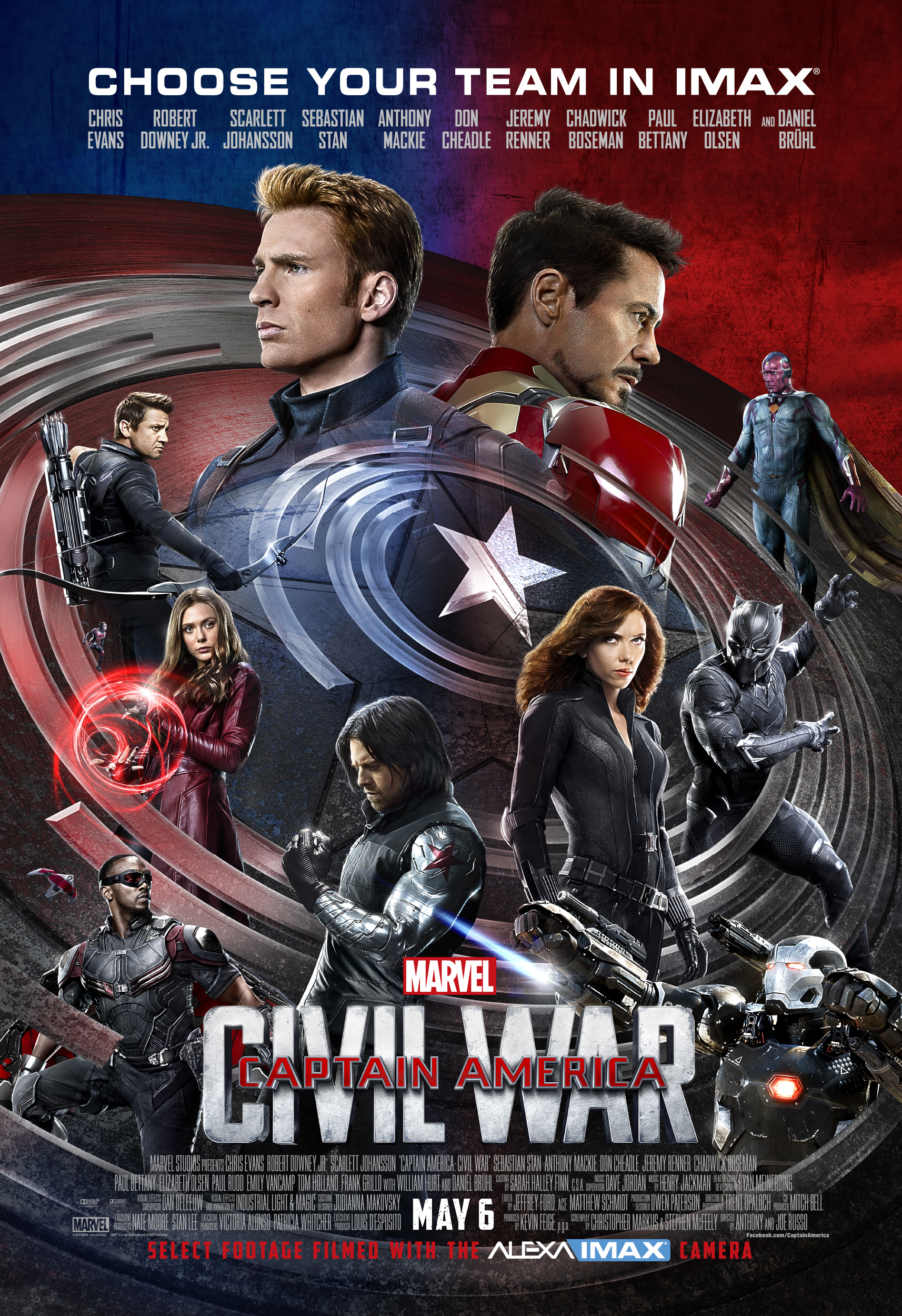 Heroes Stand Tall In Captain America Civil War Imax Poster
