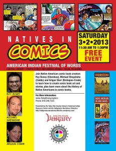 Native Comics Festival of Words Flyer