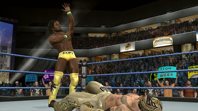 Kofi Kingston vs Rey Mysterio - Smackdown vs RAW 2010 / THQ.com