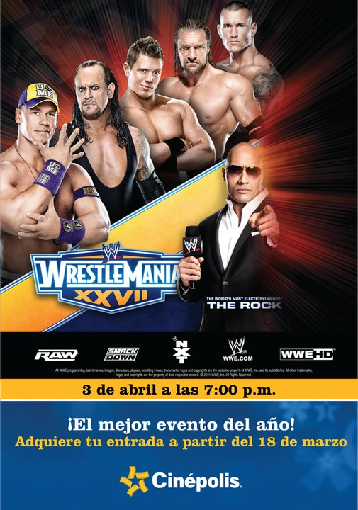 Wrestlemania 27 Costa Rica Cinepolis