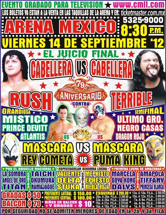 79 Aniversario del CMLL / Arena México - 14 de septiembre de 2012 / Imagen by www.cmll.com