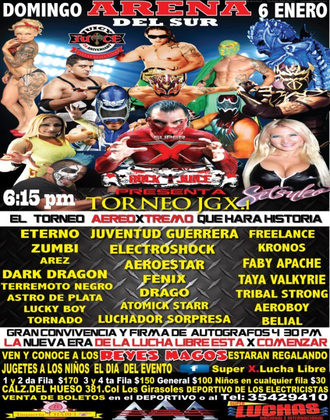 Super X Wrestling presenta Torneo Juventud Guerrera X.1 / Arena del Sur - 6 de enero de 2013 / Image by Super X.Lucha Libre en Facebook