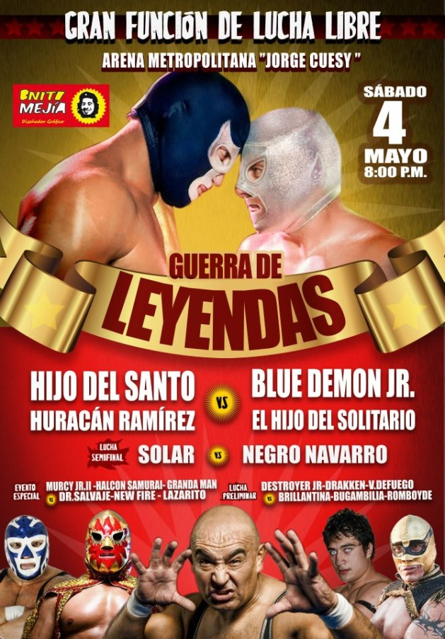 """Guerra de Leyendas / Arena Metropolitana """"Jorge Cuesy"""" de Tuxtla Gutiérrez, Chiapas - 4 de mayo de 2013 / Image by Guerra de Leyendas en Facebook"""