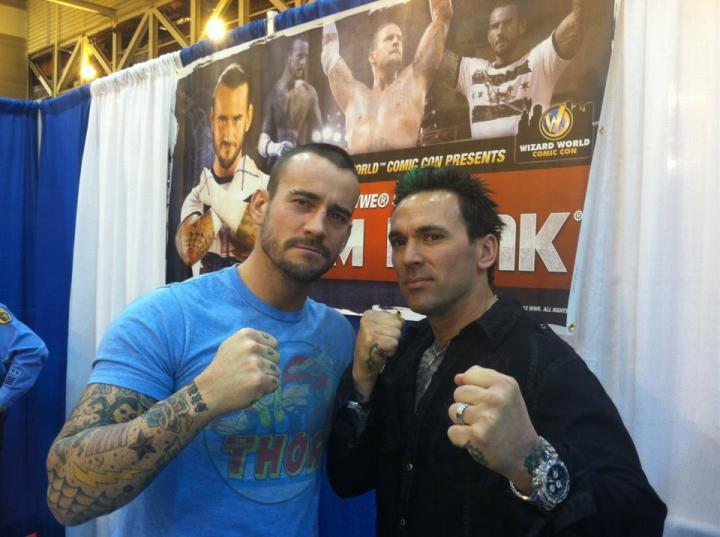Cm Punk y Jason David Frank - Imagen por Facebook.com/jasondfrank