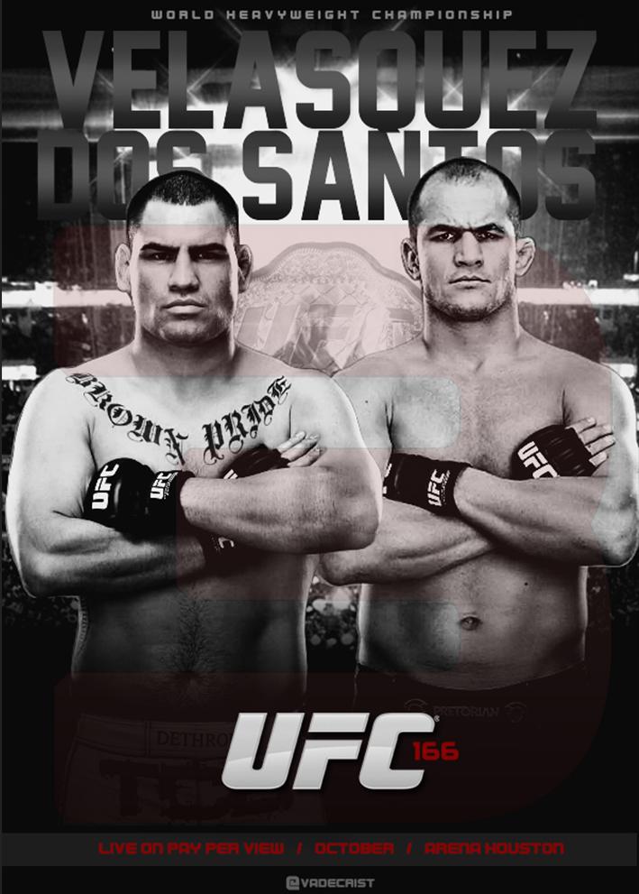 Velasquez vs Dos Santos 3 / poster por don denisio